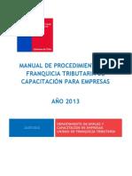 Manual de Procedimientos Franquicia Tributaria 2013 Empresas