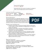 UT Dallas Syllabus for rhet1302.027 06f taught by   (kxa056000)
