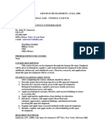 UT Dallas Syllabus for psy4334.001 06f taught by John Santrock (santrock)
