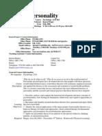 UT Dallas Syllabus for psy4331.001 06f taught by Karen Prager (kprager)