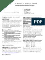 UT Dallas Syllabus for psy2317.001 06f taught by Nancy Juhn (njuhn)