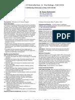 UT Dallas Syllabus for psy2301.001 06f taught by James Bartlett (jbartlet)