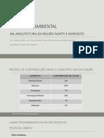 Conforto Ambiental na Arquitetura das Regiões Norte e Nordeste do Brasil