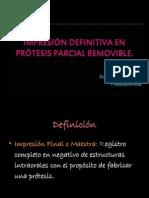 Impresiones en Prótesis parcial removible