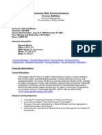 UT Dallas Syllabus for ba4323.501 06f taught by Deborah Manica (djm022000)