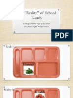 the reality of school lunch
