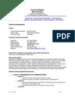 UT Dallas Syllabus for mis6316.0g1 06f taught by Syam Menon (sxm021300)