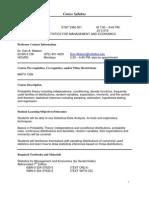 UT Dallas Syllabus for stat3360.501 06f taught by Dan Watson (daw016600)