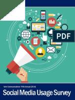 2014 Social Media Usage Survey Report