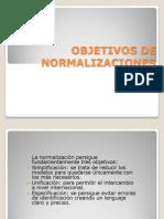 Objetivos de normalizacion