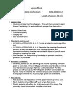 wordprocessor lesson plan i
