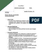 wordprocessor lesson plan ii