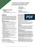 UT Dallas Syllabus for psy2301.002 06f taught by Shayla Holub (sch052000)