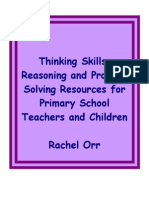 Developing of Thinking Skills, Reasoning and Problem Solving