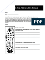 dec 4 - shoe print and animal print quiz