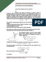 Laboratorio Fisica - Informe de Rozamiento dinamico