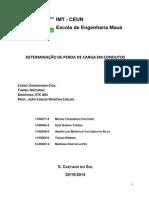DETERMINAÇÃO DE PERDA DE CARGA EM CONDUTOS