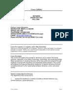UT Dallas Syllabus for soc3321.001 06f taught by Meryl Nason (mnason)