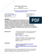 UT Dallas Syllabus for soc3314.001 06s taught by Andrea Simpson (axl050100)