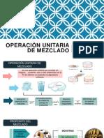 Operación Unitaria de Mezclado