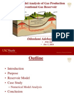Numerical Model Analysis of Gas Production in Unconventional Gas Reservoir