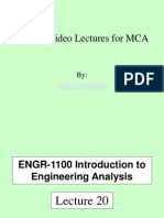 Free Video Lectures for MCA