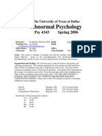 UT Dallas Syllabus for psy4343.501 06s taught by Malcolm Housson (housson)