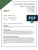 UT Dallas Syllabus for psy4332.521 06u taught by Laura Adams (lla012100)