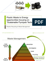 Plastic Waste to Energy Opportunities