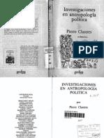 Clastres Pierre-Investigaciones en Antropologia Politica