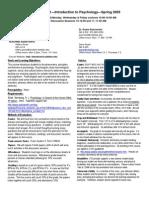 UT Dallas Syllabus for psy2301.001 05s taught by James Bartlett (jbartlet)