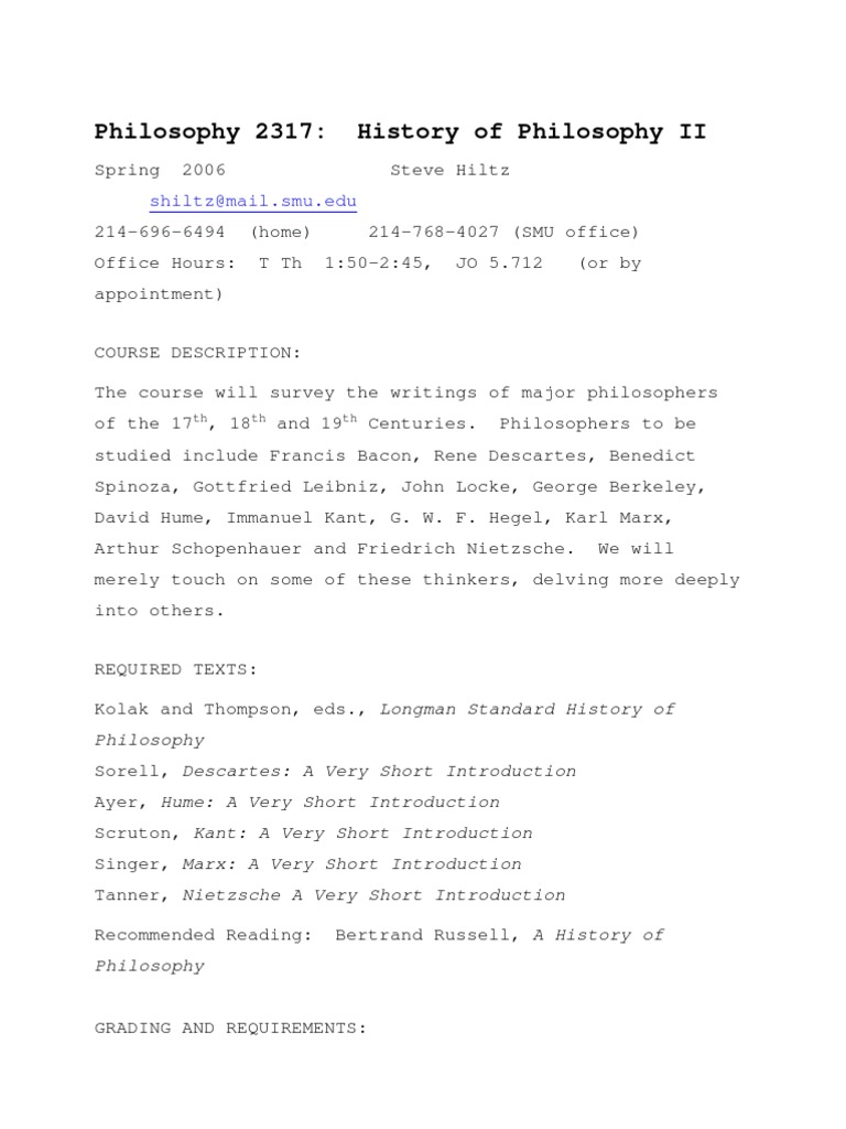 UT Dallas Syllabus For Phil2317001 06s Taught By Stephen Hiltz Sch021000