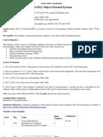 UT Dallas Syllabus for mis6323.501 05f taught by Jayatirtha Asundi (jxa027000)