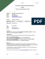 UT Dallas Syllabus for mis6204.595 05f taught by Hans-joachim Adler (hxa026000)