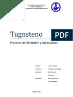 Procesos obtención Tugnsteno