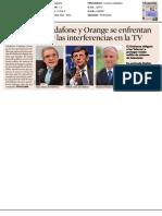 Telefónica, Vodafone y Orange se enfrentan a Industria por las interferencias en la televisión
