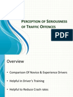 Perception of Seriousness of Traffic Offences