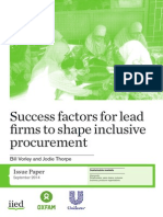 Success Factors for Lead Firms to Shape Inclusive Procurement