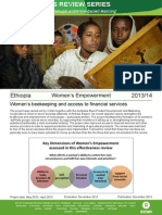 Women's Empowerment in Ethiopia