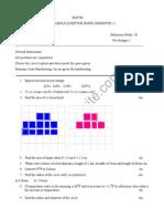 Class 5 ICSE Maths Sample Paper Term 2 Model 1