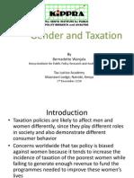 Gender and Taxation - Bernadette Wanjala