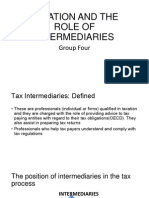 Taxation and the Role of Intermediaries
