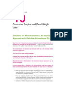 Consumer Surplus and Deadweight Loss