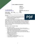 UT Dallas Syllabus for govt4332.001 05f taught by Jennifer Holmes (jholmes)