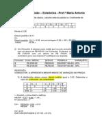 Exercícios Revisão 2º Bimestre - Estatística Resolvidos