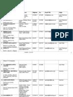 Media Contact List