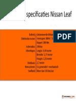 Specificaties Nissan Leaf