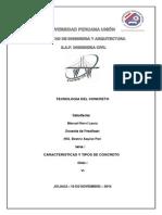 Caracteristicas y Tipos de Concreto
