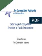 Detecting Anti-competitive Practices in Public Procurement