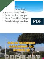 Plan de Desarrollo Concertado Del Distrito de Pocollay